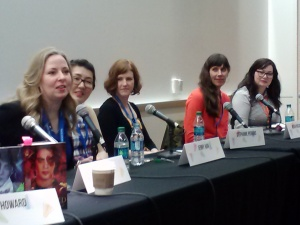 Featuring Ally Carter, Jenny Han, Stephanie Perkins, Megan McCafferty and friend/moderator Mandy Aguilar.  Not picture: A. G. Howard
